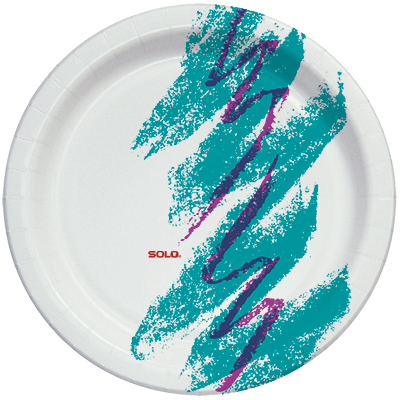 Solo Jazz Print Paper plate